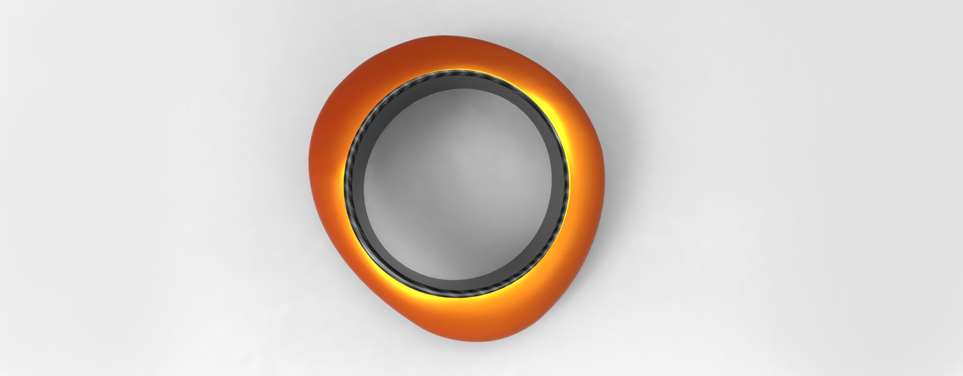 Orange Carbon Fibre Bangle